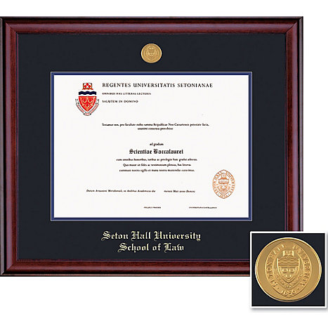 Seton Hall Law School 14 X 17 Classic Diploma Frame