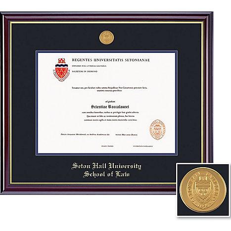 Seton Hall Law School 14 X 17 Windsor Diploma Frame