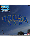 University of Tulsa Golden Hurricane Law Decal