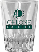 Ohlone College 2 oz. Fluted Collector's Glass