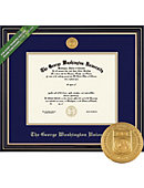 George Washington University 8.5'' x 11'' Prestige Diploma Frame