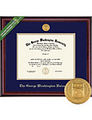 Classic Diploma Frame with Medallion (Law/Medical/PhD)
