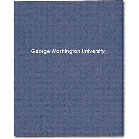 Product: George Washington University Recycled Two-Pocket Portfolio