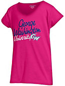 George Washington University Girls' V-Neck Short Sleeve T-Shirt