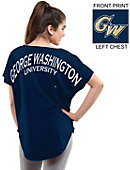 George Washington University Women's Short Sleeve Cut-Off T-Shirt