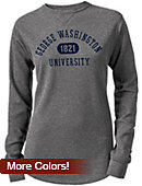 George Washington University Women's Long Sleeve Waffle T-Shirt