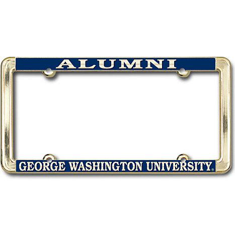 George Washington University Alumni Polished Brass License