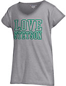 Stetson University Girls' V-Neck Puffy Sleeve T-Shirt