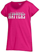 Stetson University Girls' V-Neck Puff Sleeve T-Shirt