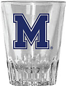 University of Memphis 2 oz. Fluted Collector's Glass