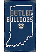 Butler University Large State Canvas