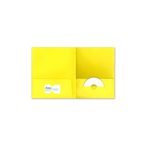 Product: PORTFOL 2PKT 3PRONG YELLOW
