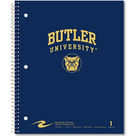 Product: Butler University 80 Sheet One-Subject Notebook