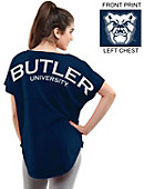 Butler University Women's Short Sleeve Cut-Off T-Shirt