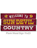 Arizona State University Sun Devils 22''x11'' Wood Sign