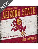 Arizona State University Vintage Tin Sign