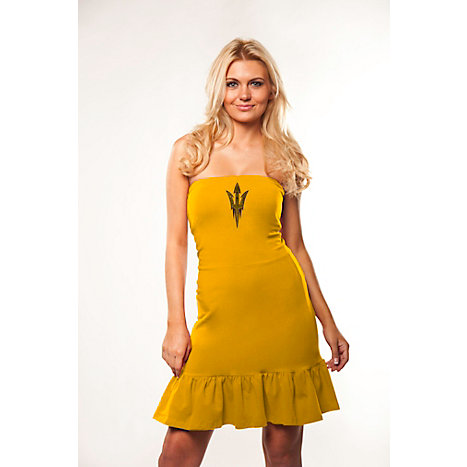 Product: Arizona State University Women's Strapless Ruffle Dress