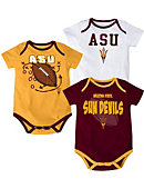 1513D Arizona State University Infant 3 Piece Bodysuit Set