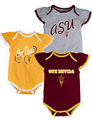 Adidas Arizona State University Infant Girls' 3 Piece Bodysuit Set