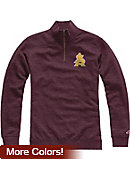 Arizona State University Tri-Blend 1/4 Zip Fleece Pullover