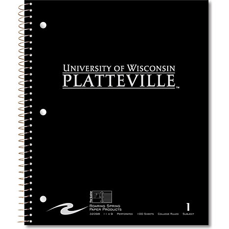 Product: University of Wisconsin - Platteville Notebook 100-Sheet