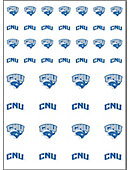 Christopher Newport University  Captains 50-Count Sticker Sheet - 2-Sheets