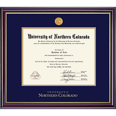Product: University of Northern Colorado Windsor Medallion Diploma Frame
