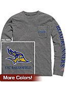 California State University - Bakersfield Vintage Washed Long Sleeve Pocket T-Shirt