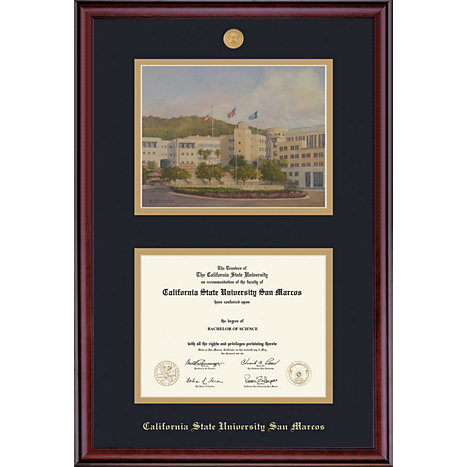 Product: California State University San Marcos 8.5'' x 11'' Classic Diploma Frame