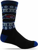 UMass - Lowell River Hawks Snowflake Crew Socks