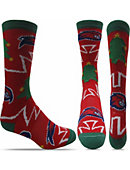 UMass - Lowell Christmas Tree Crew Socks