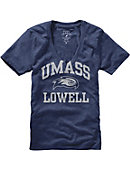UMass - Lowell Women's V-Neck T-Shirt