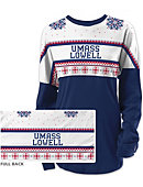 UMass - Lowell Women's Long Sleeve Ugly Sweater Ra Ra Shirt