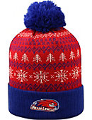UMass - Lowell River Hawks Christmas Cuffed Pom Hat