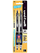 GEL PEN 2PK BLK UNIBALL RETRAC