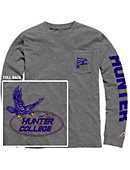 Hunter College  Vintage Washed Long Sleeve Pocket T-Shirt