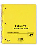 NOTEBOOK 1 SUBJECT 11x8 100SH 2PKT