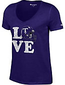 Tarleton State University Love Football Women's V-Neck T-Shirt
