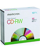 Memorex CSRW Jewel Cases, 10 Pack
