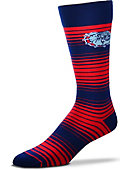 Gonzaga University Bulldogs Thin Striped Dress Socks