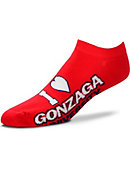 Gonzaga University Bulldogs Women's No Show Socks