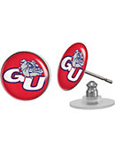 Gonzaga University Bulldogs Domed Earrings
