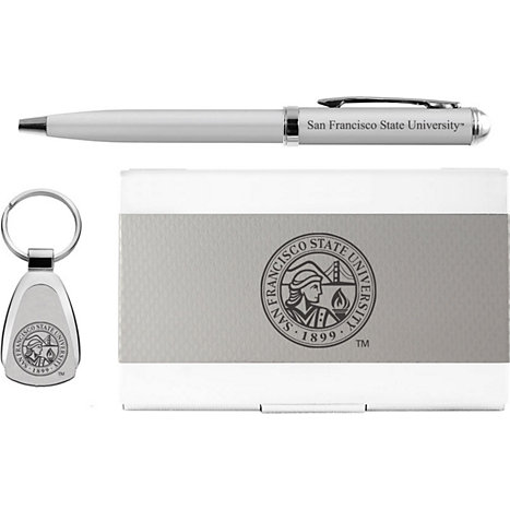 Product: San Francisco State University Pen, Keychain, and Cardholder Set