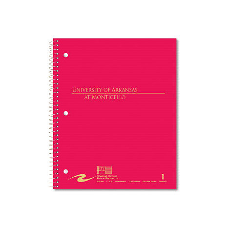 Product: University of Arkansas at Monticello 100 Sheet One-Subject Notebook