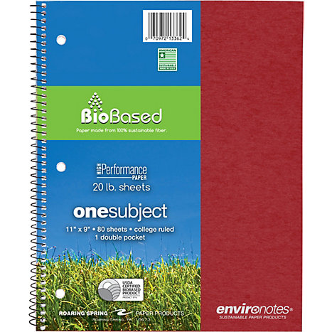 Product: Notebook 1 Subject 11x9