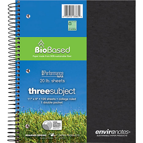 Product: Notebook 3 Subject 11x9