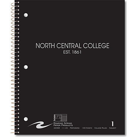 Product: North Central College Notebook 100-Sheet