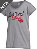 North Central College Girls' V-Neck Short Sleeve T-Shirt