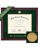 Wake Forest University School of Medicine Classic Diploma Frame with Medallion