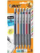 BIC Pencil Xtra Comfort Mechanical Pencil .5MM 6Pk BiC Grip